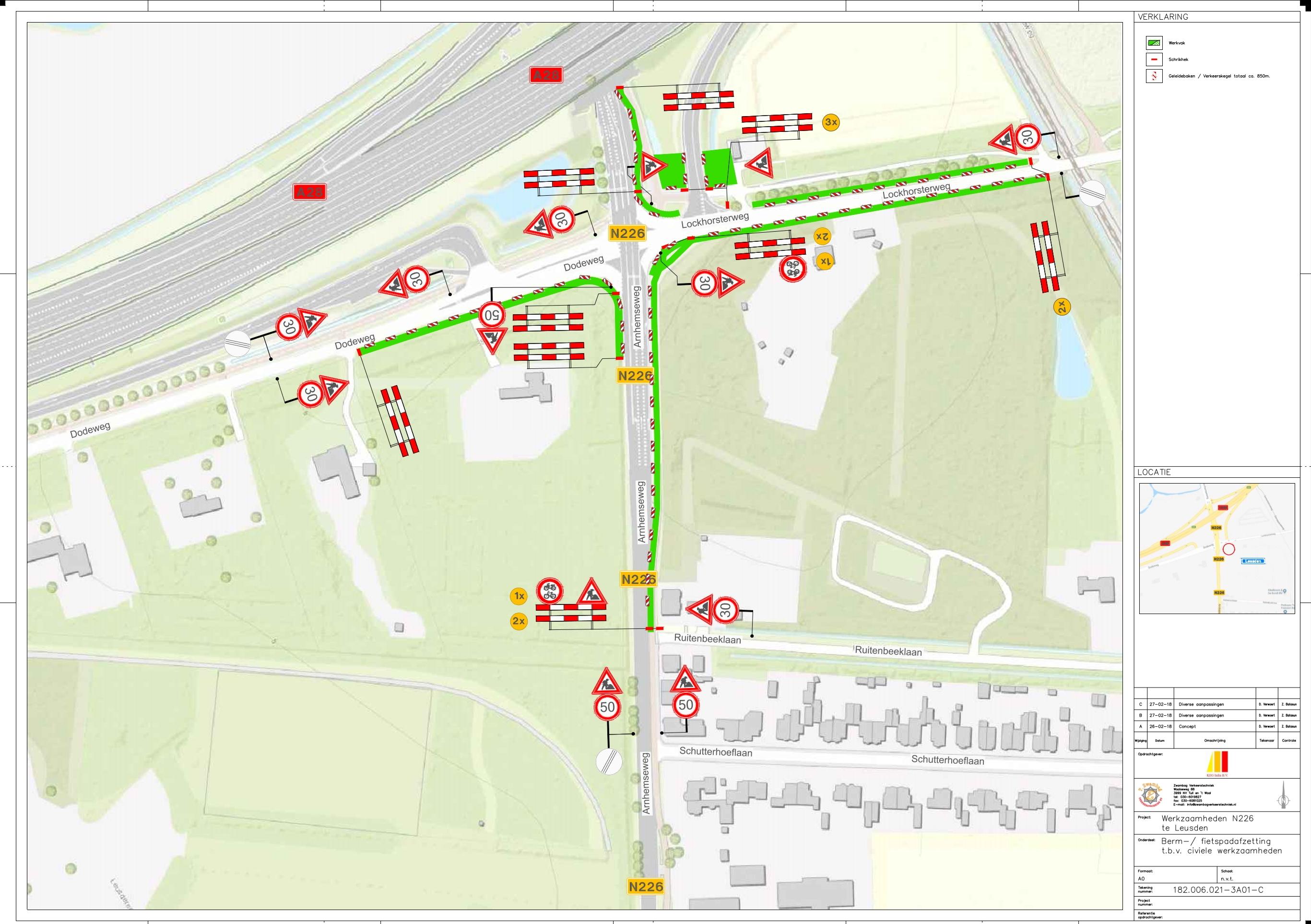 ☎ Zwambag Verkeerstechniek, voor tijdelijke bebording verkeersborden!